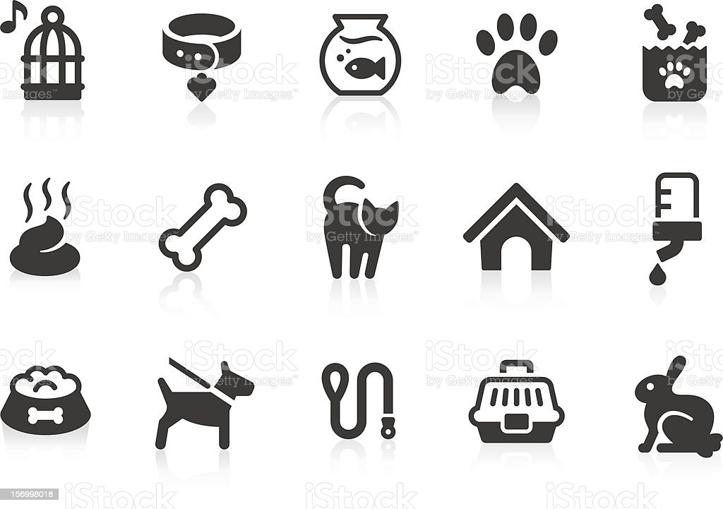 Pet icons vector art illustration