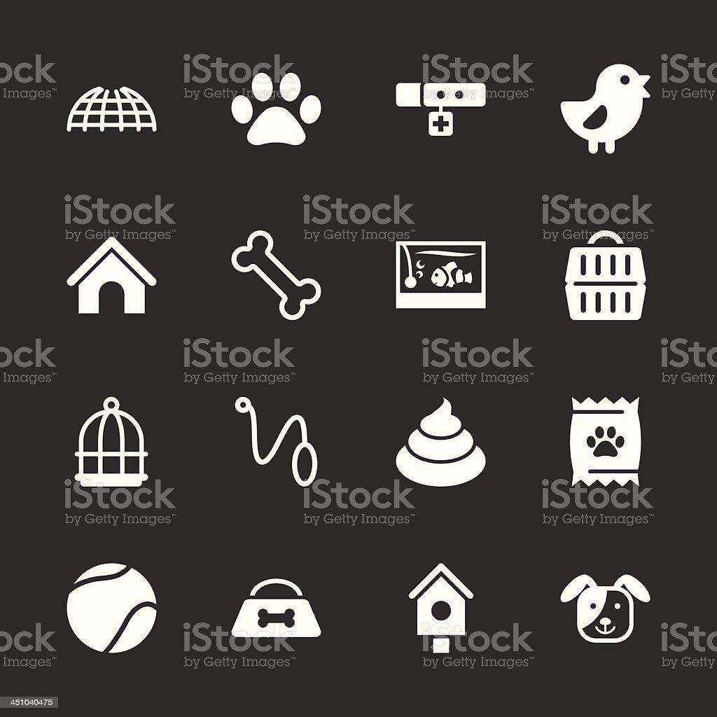 Pet Icons - White Series | EPS10 vector art illustration