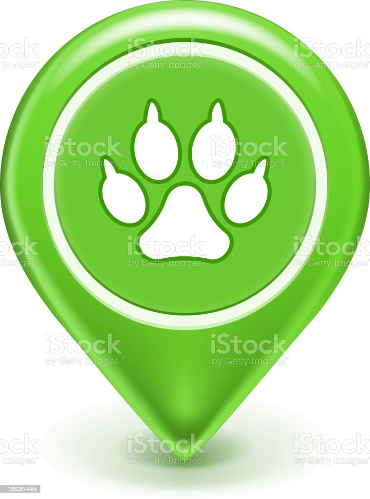 Pet Location Icon royalty-free stock vector art
