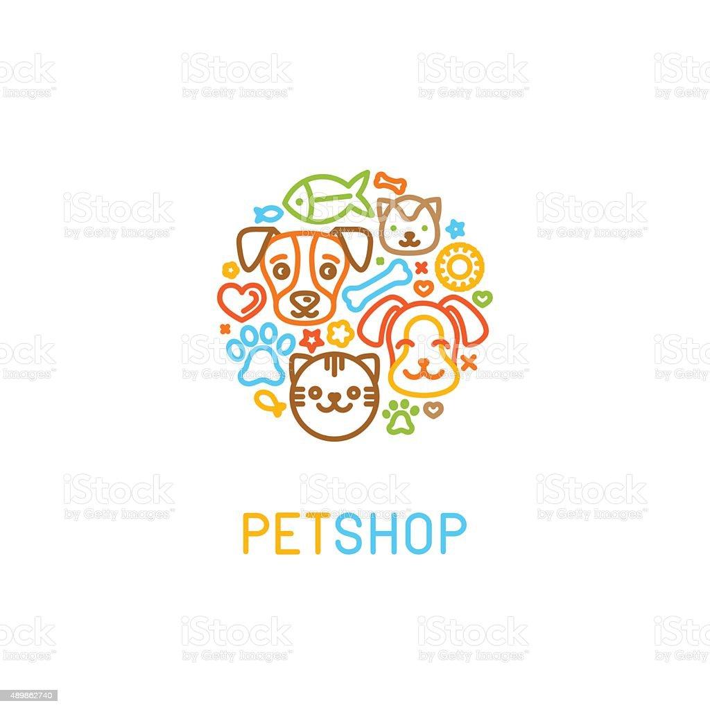 pet logo design elements stock vector art 489862740 istock