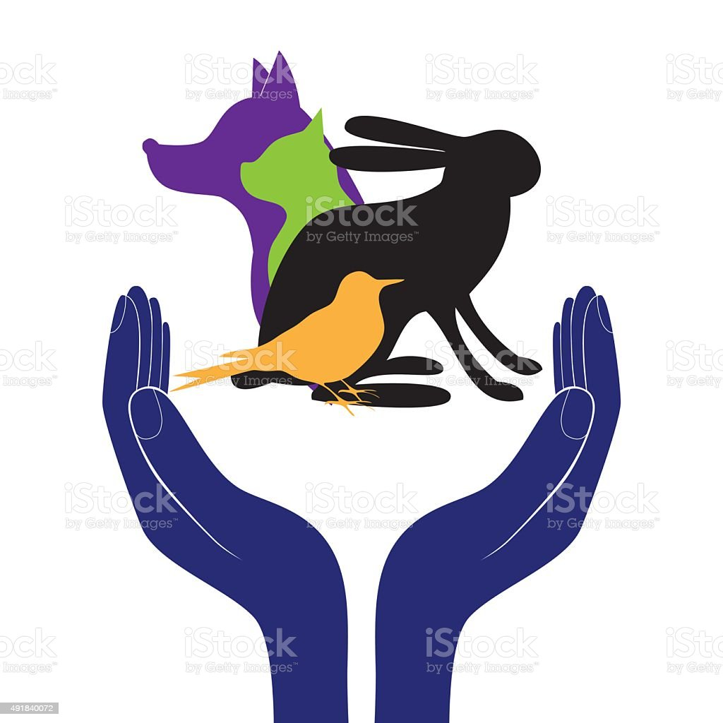 pet protection sign vector vector art illustration