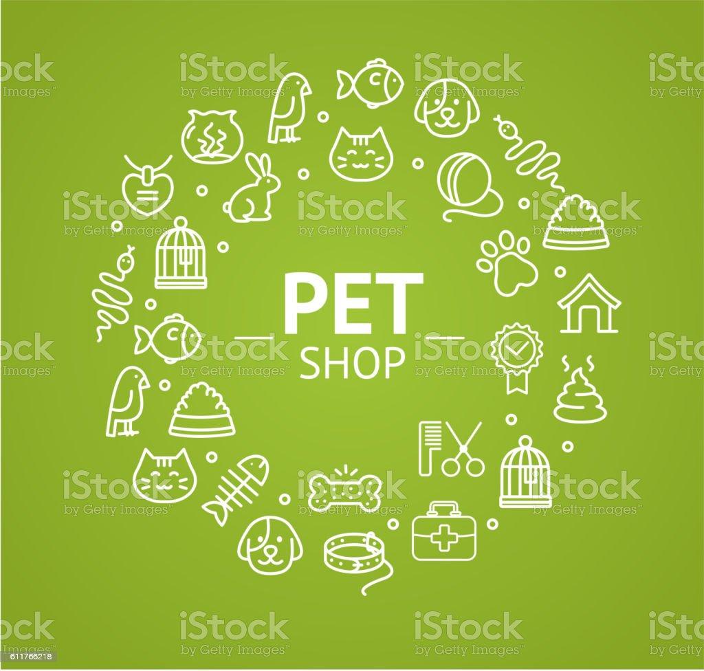 Pet Shop Concept. Vector vector art illustration