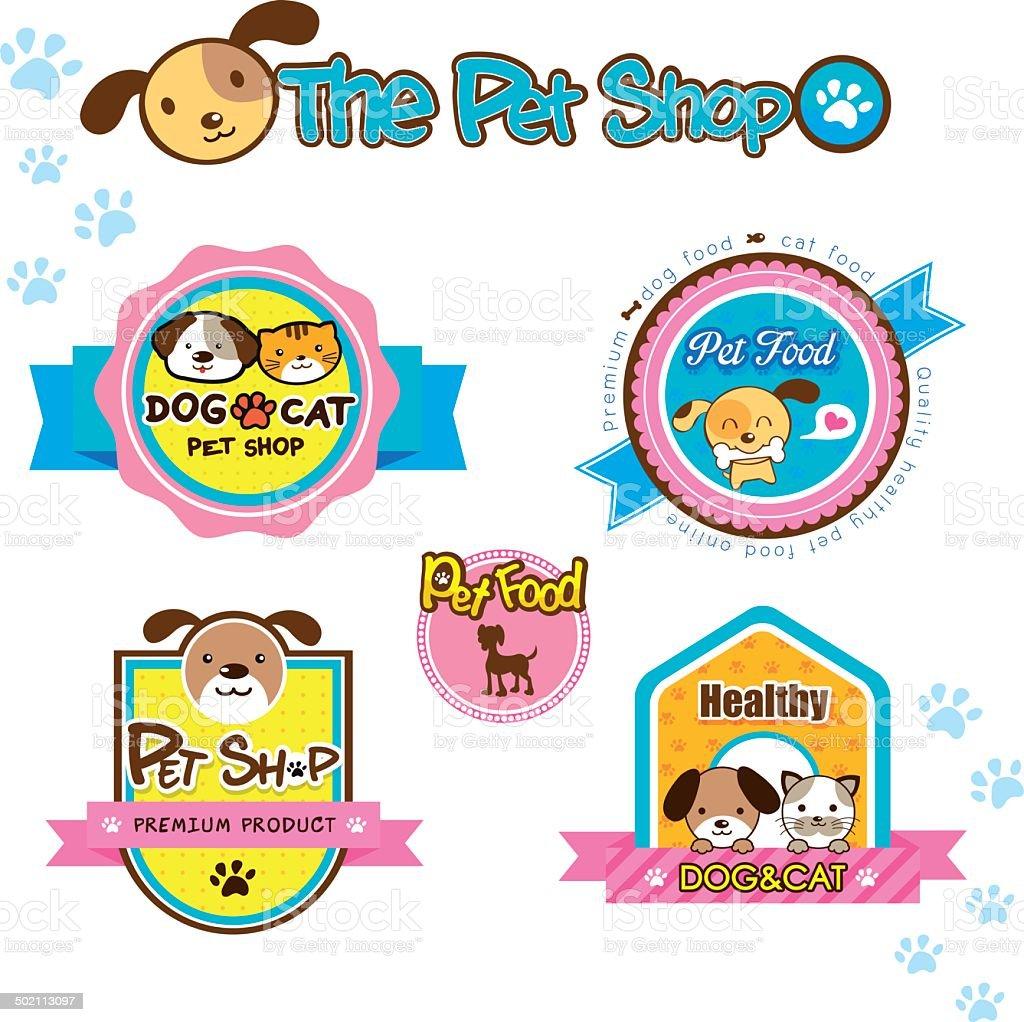 pet shop labels dog and cat symbol royalty-free stock vector art