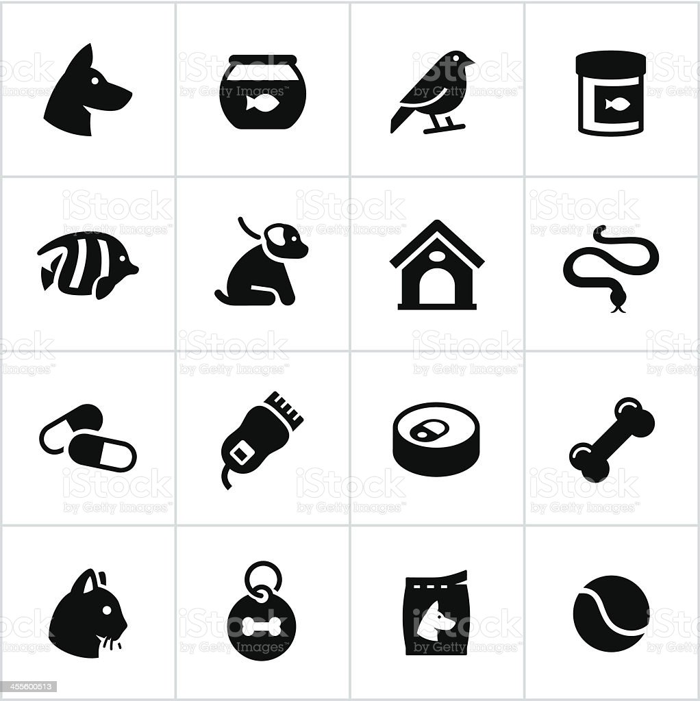 Pet Store Icons vector art illustration