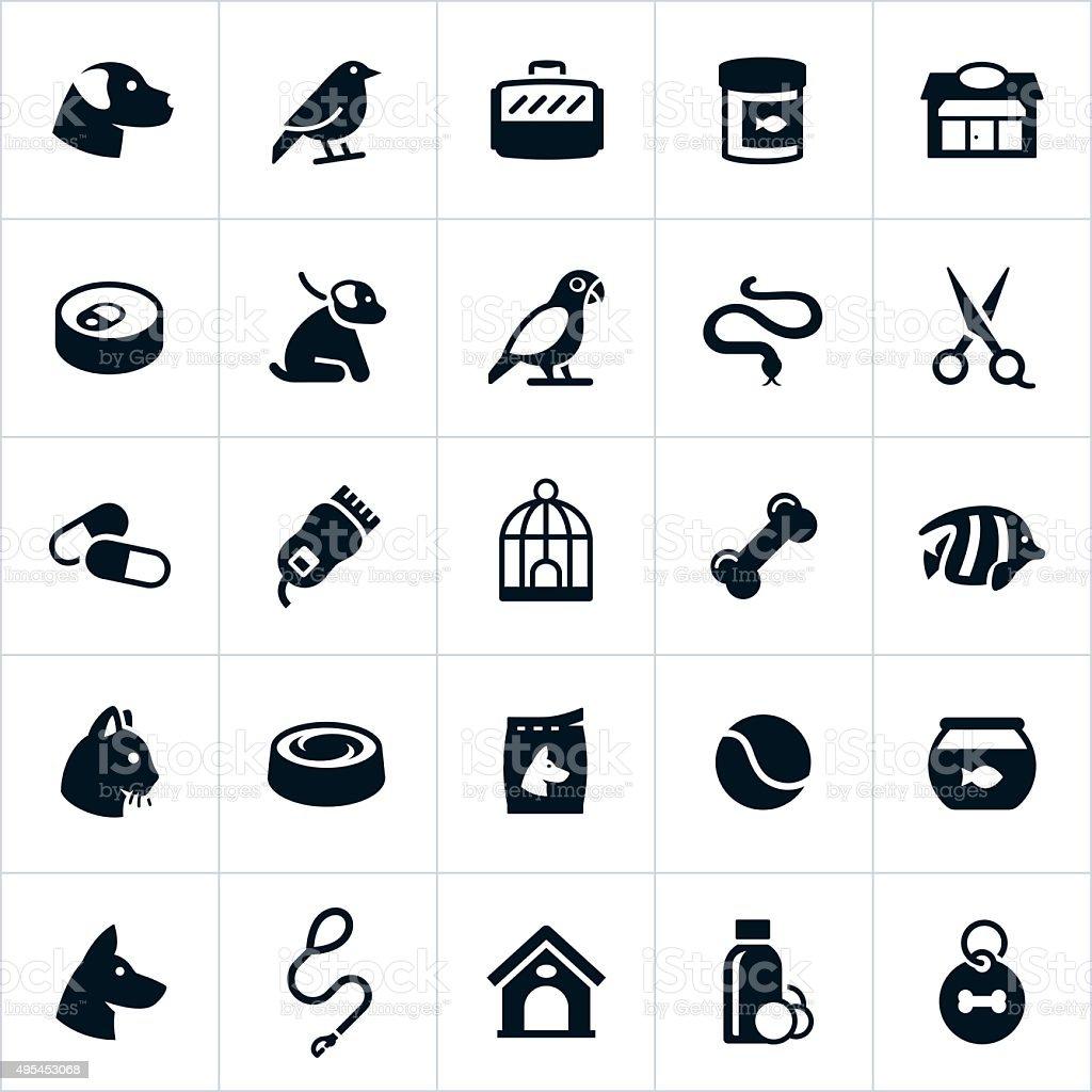 Pet Store Icons vector art illustration