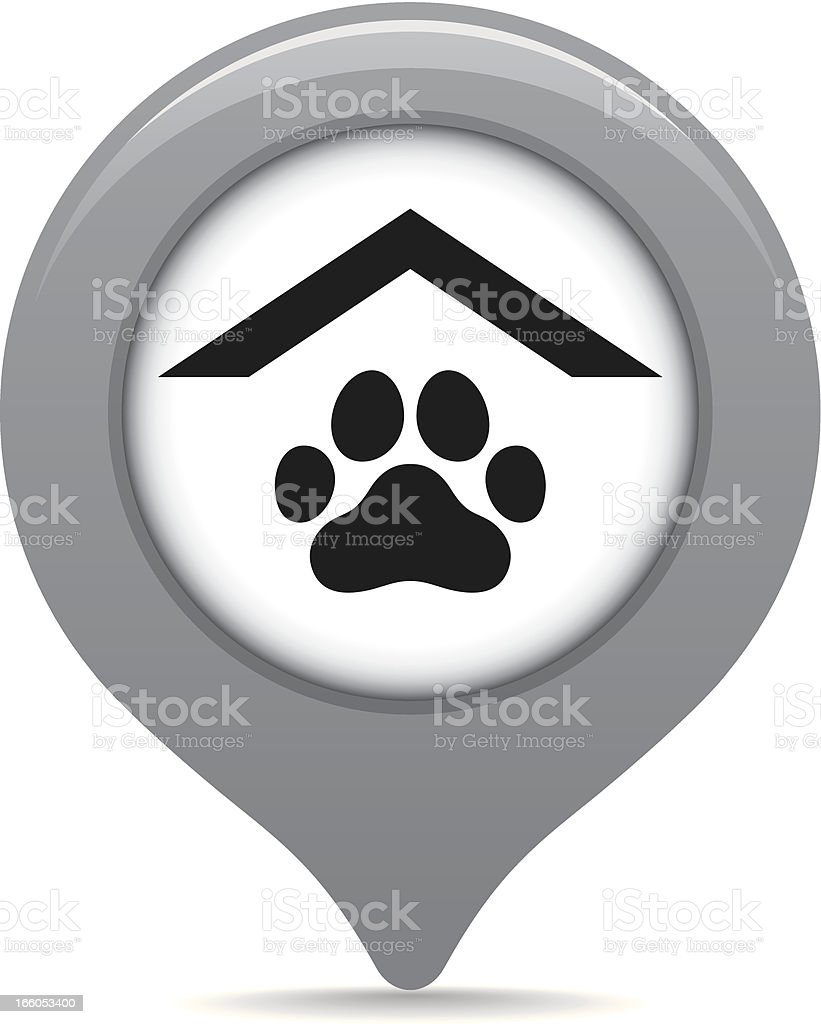 Pet store map pointer royalty-free stock vector art