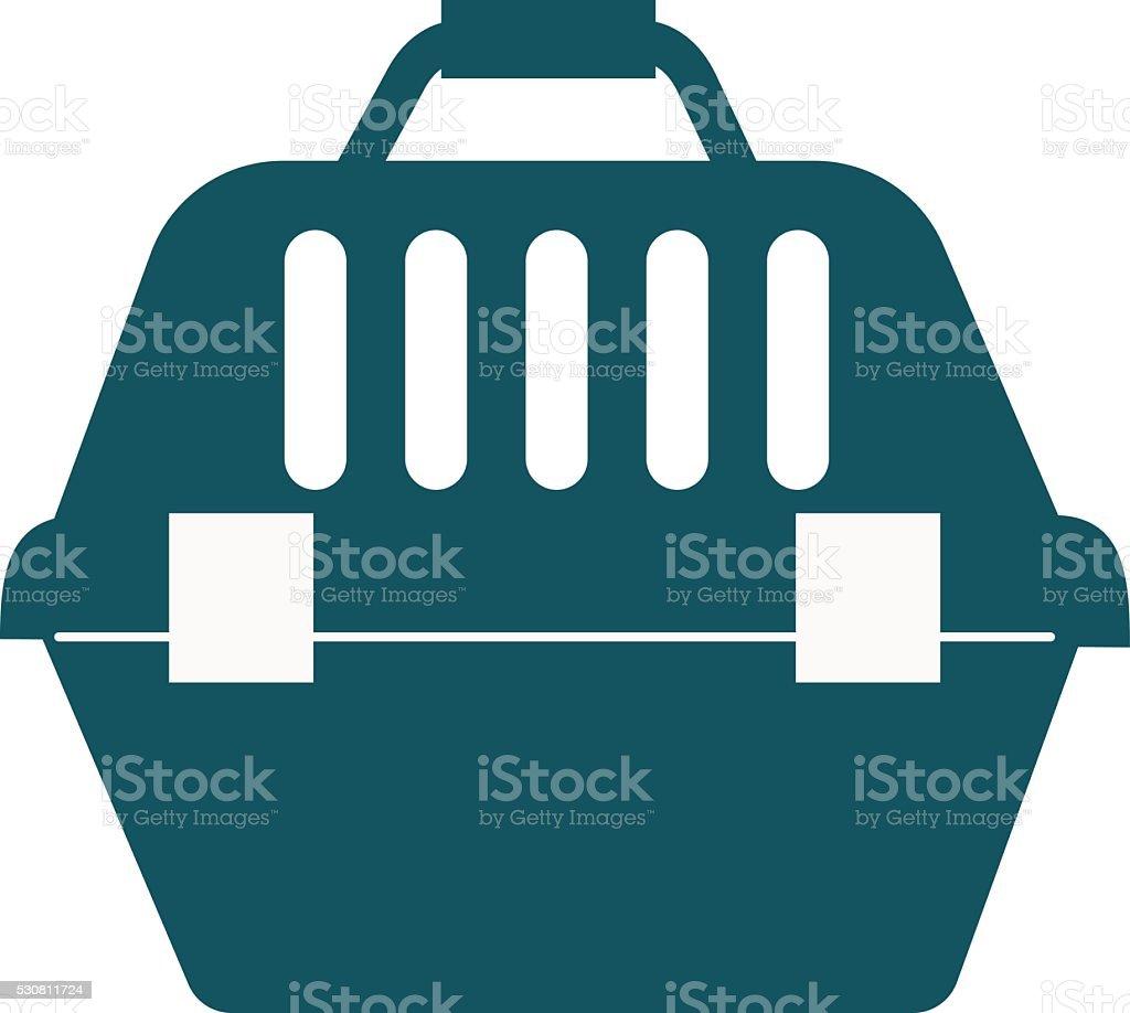 Pet travel plastic carrier case vector illustration vector art illustration