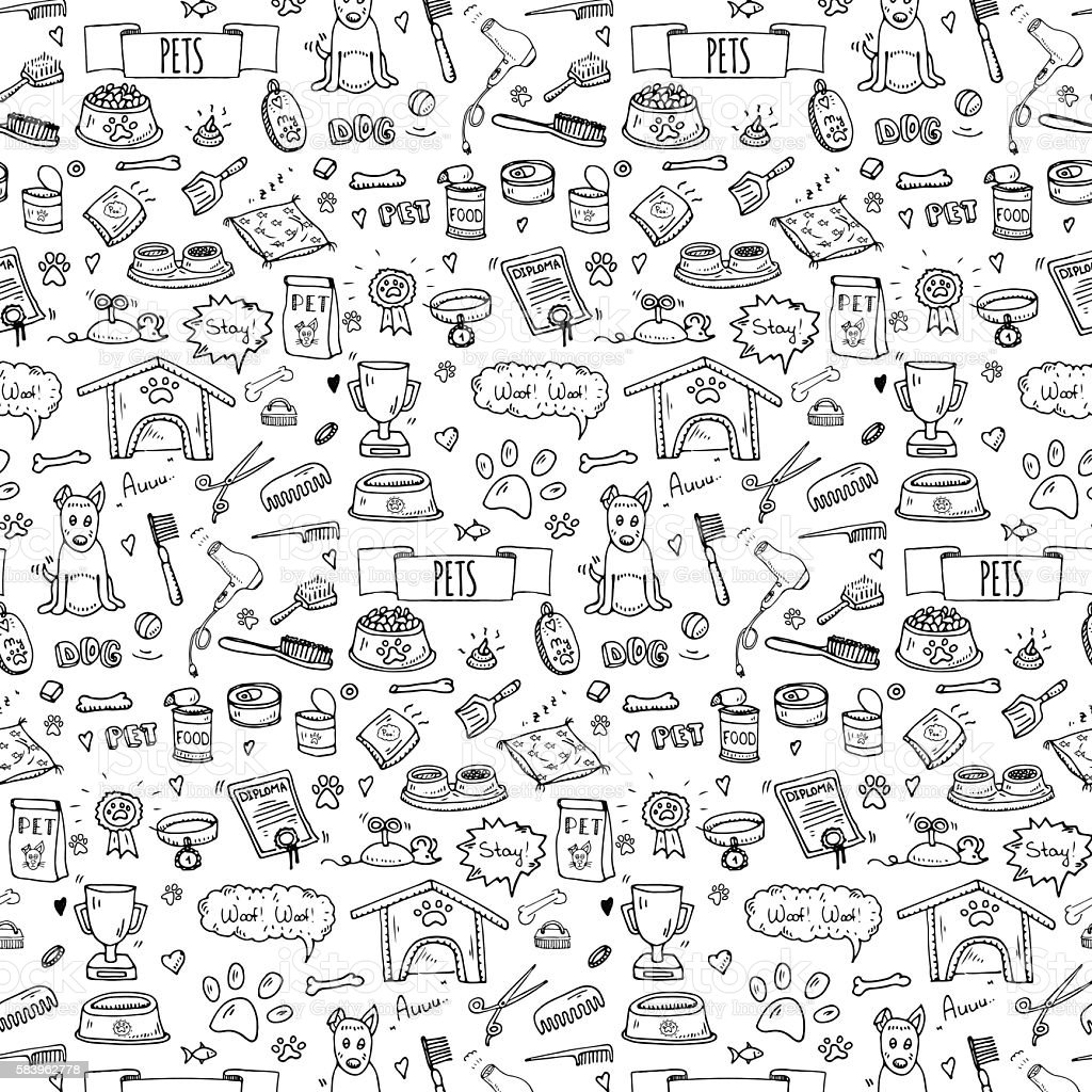 Pet_for background vector art illustration