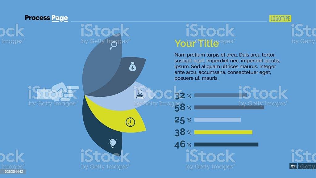 Petals Percentage Chart Slide Template vector art illustration