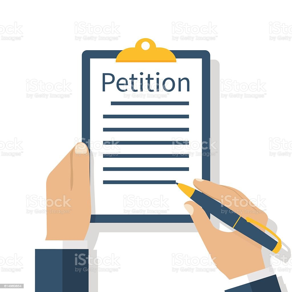 Petition concept, vector vector art illustration