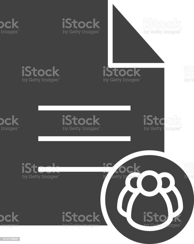 Petition icon vector art illustration