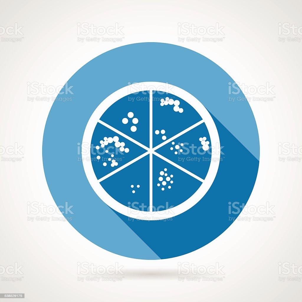 Petri dish round vector icon vector art illustration