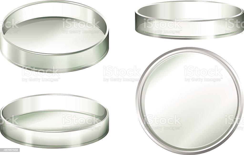 Petri dish vector art illustration