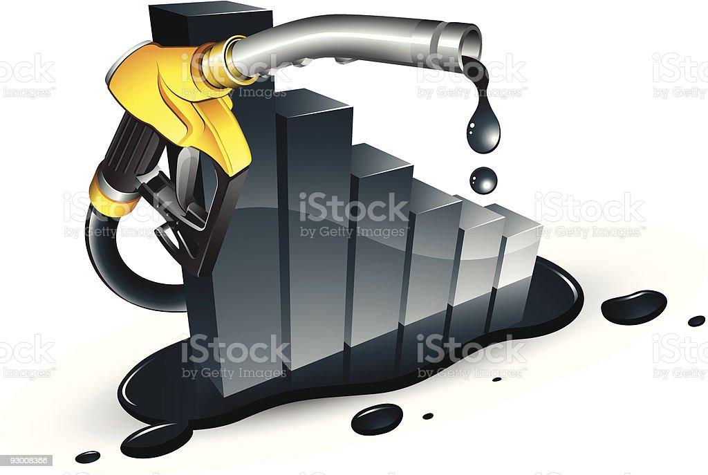 Petrol decrease royalty-free stock vector art