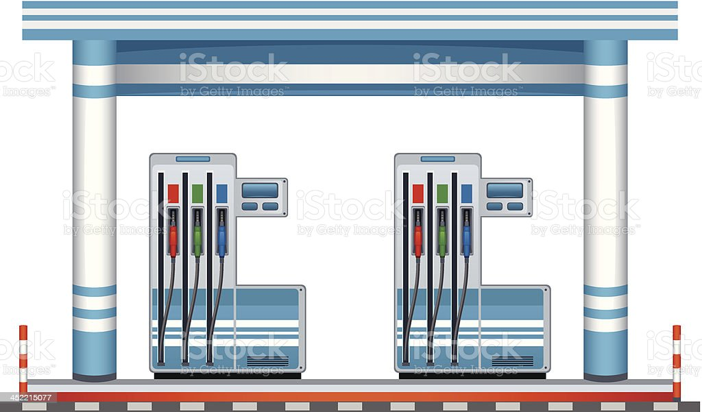 Petrol station royalty-free stock vector art