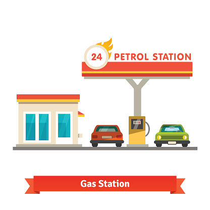 Gas Station Clip Art, Vector Images & Illustrations - iStock