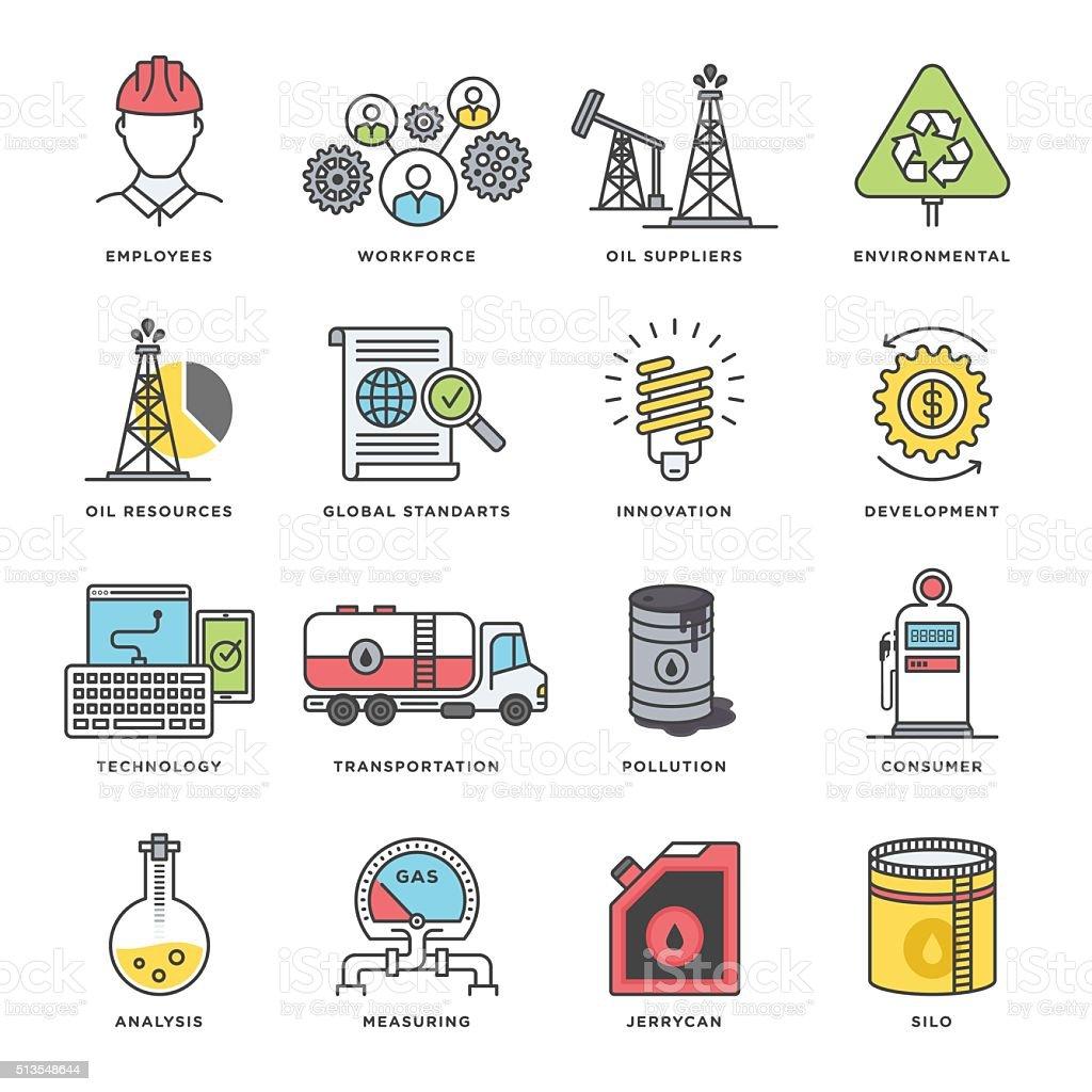 Petroleum Industry Icon vector art illustration