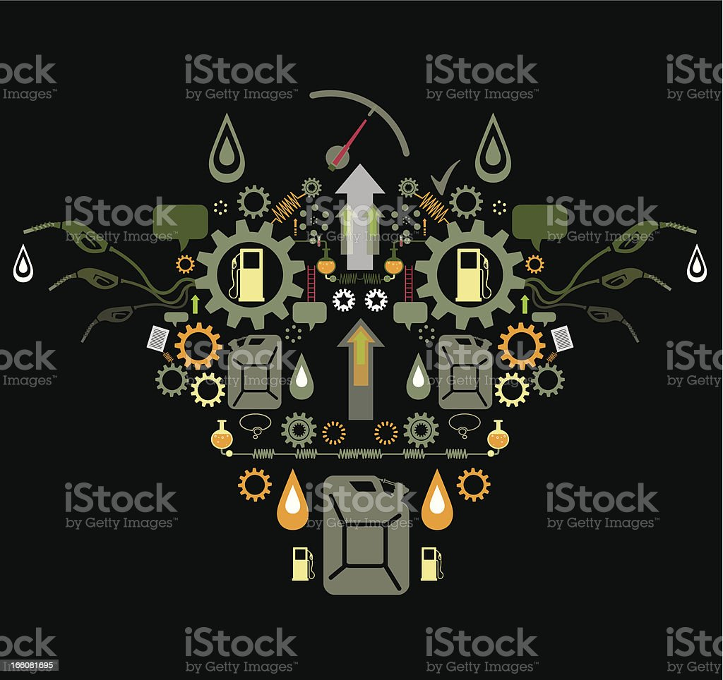 Petroleum Industry royalty-free stock vector art