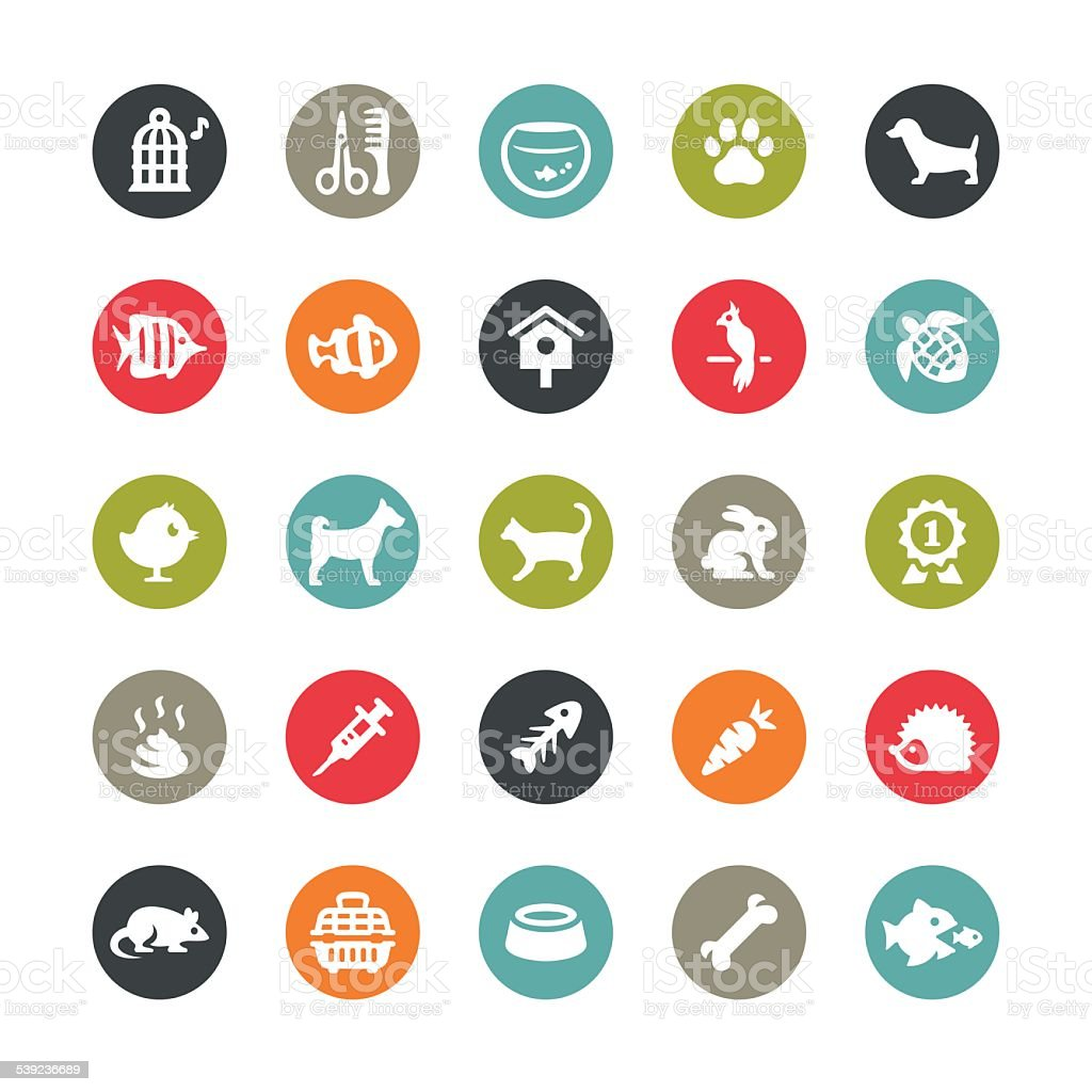 Pets and Grooming icons / Ringico series vector art illustration