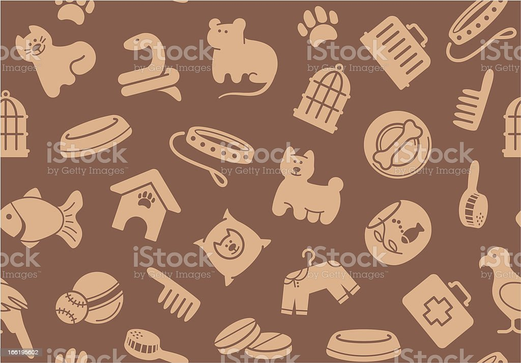 Pets care seamless background royalty-free stock vector art