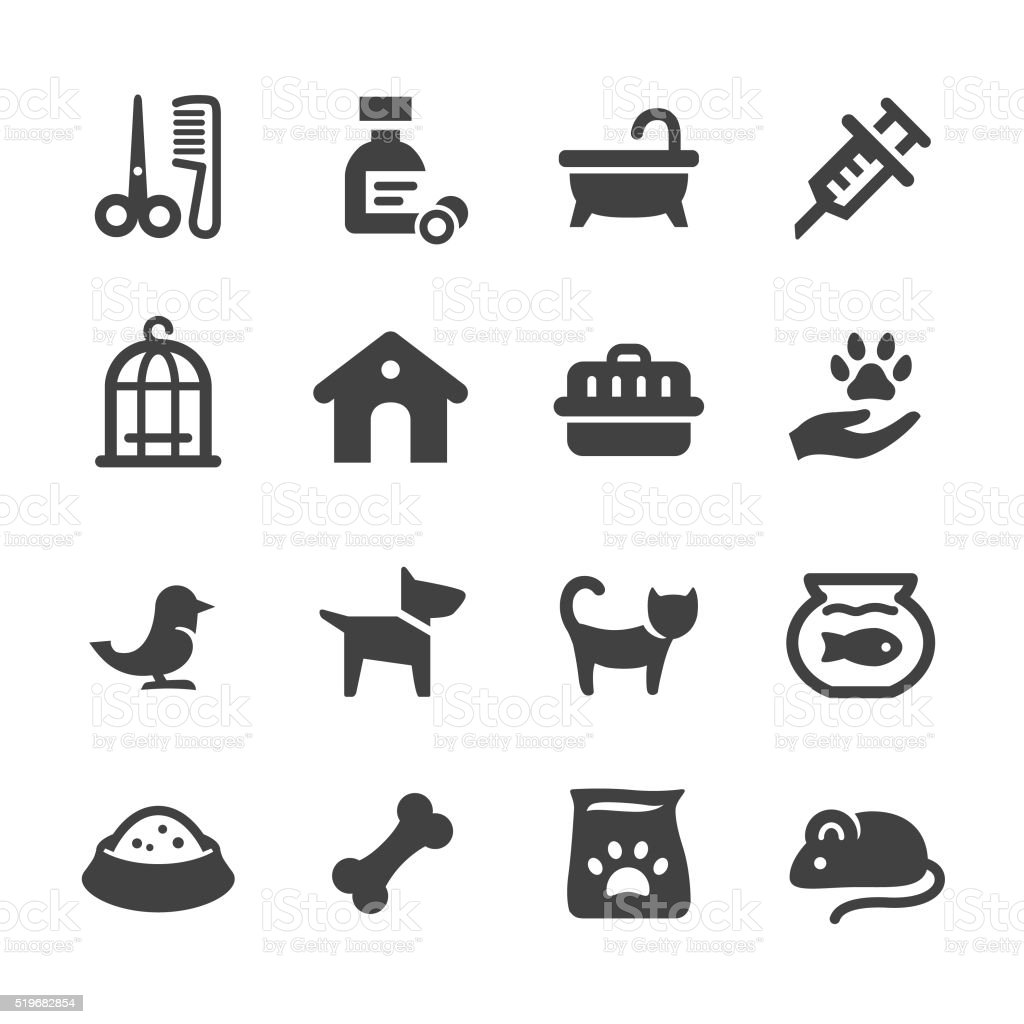 Pets Icons - Acme Series vector art illustration