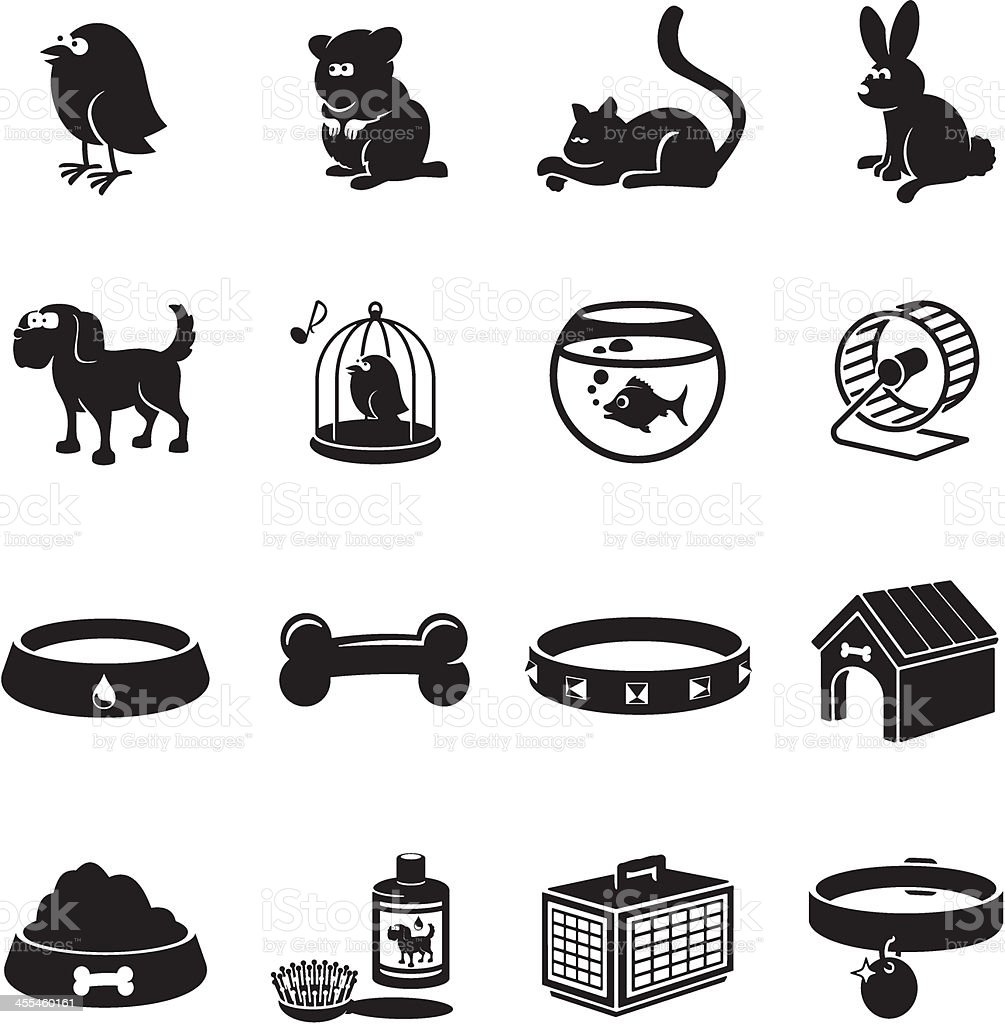 Pets Icons vector art illustration