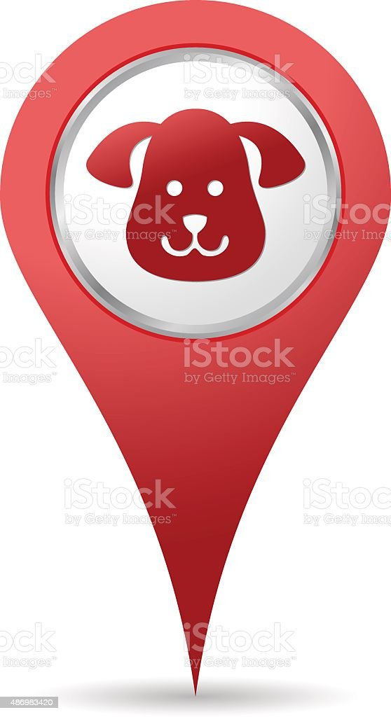 Pets location icon vector art illustration