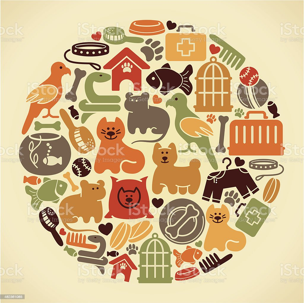 Pets symbol vector art illustration