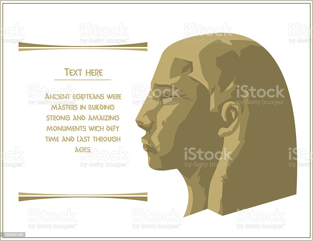 Pharaoh Head From Imagination royalty-free stock vector art