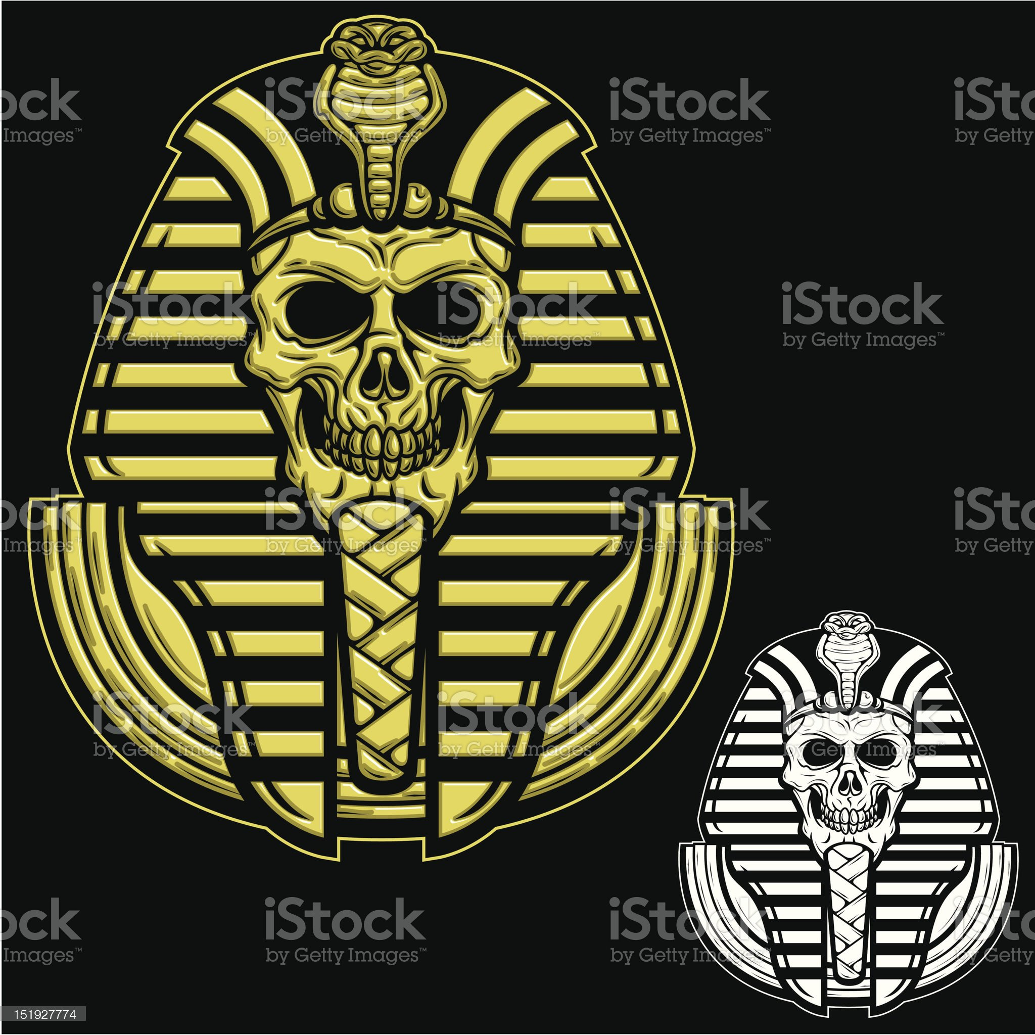 Pharaoh Skull royalty-free stock vector art