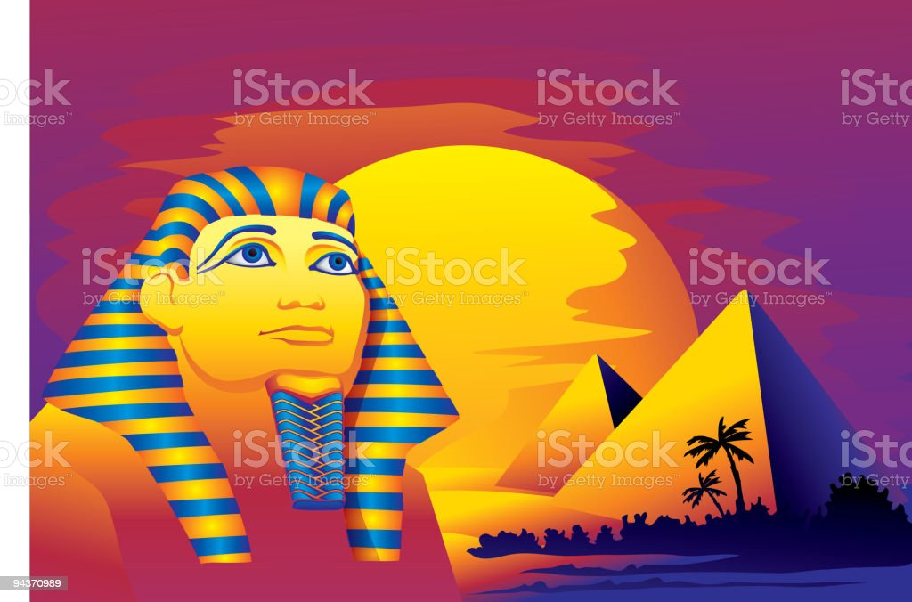 Pharaoh royalty-free stock vector art