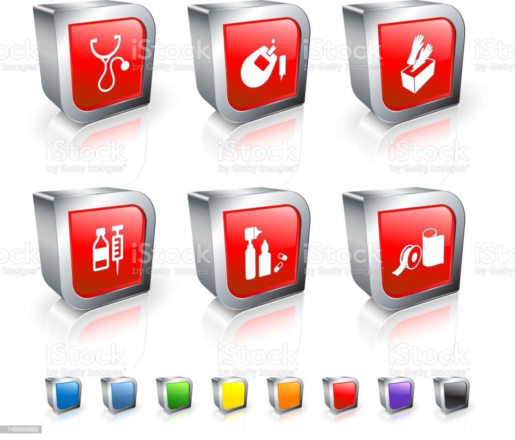 pharmaceutical supplies royalty free vector icon set royalty-free stock vector art