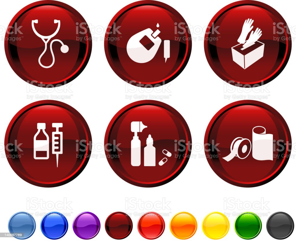pharmaceutical supplies royalty free vector icon set royalty-free stock vector art