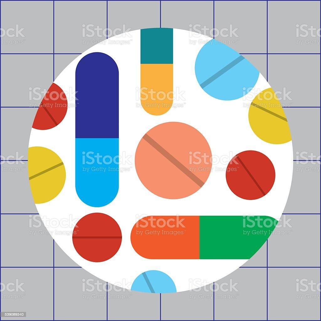 Pharmaceuticals vector art illustration