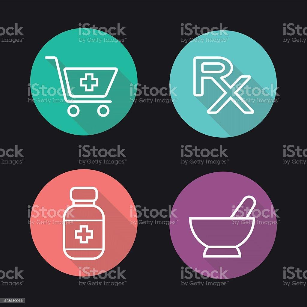 Pharmacy icons vector art illustration