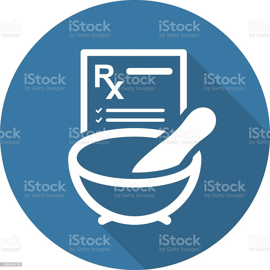 Pharmacy Medicine Icon. Flat Design. vector art illustration