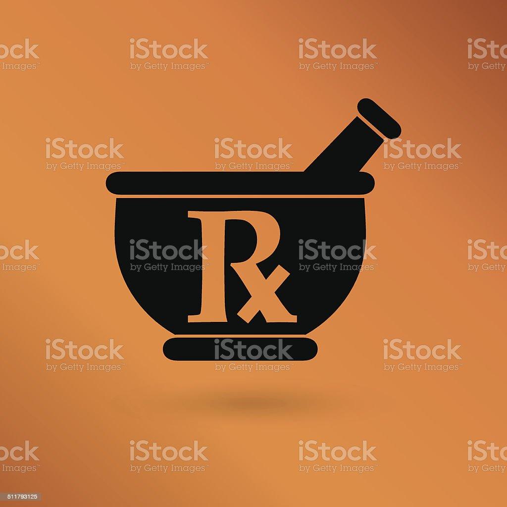 pharmacy, medicine sign vector art illustration
