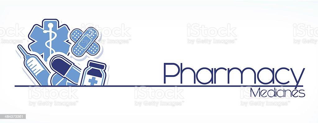 pharmacy sign design vector vector art illustration