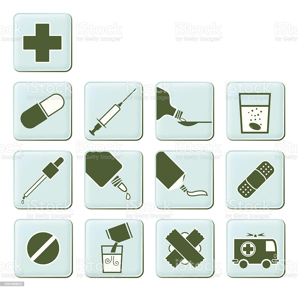 Pharmacy Symbols Set (part 1) royalty-free stock vector art