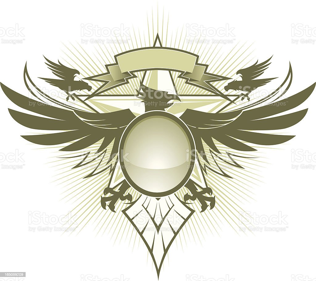 pheonix crest royalty-free stock vector art