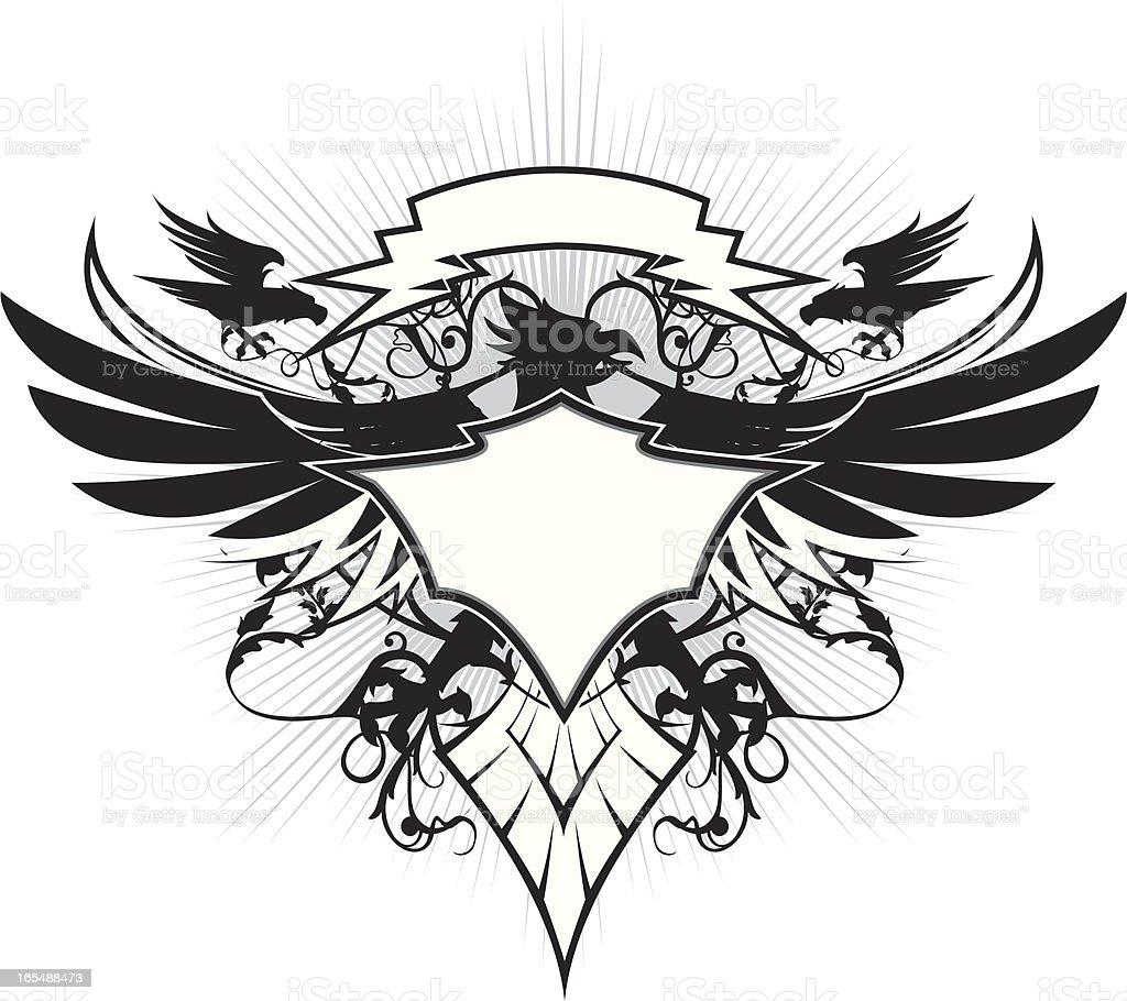 pheonix in the sky royalty-free stock vector art