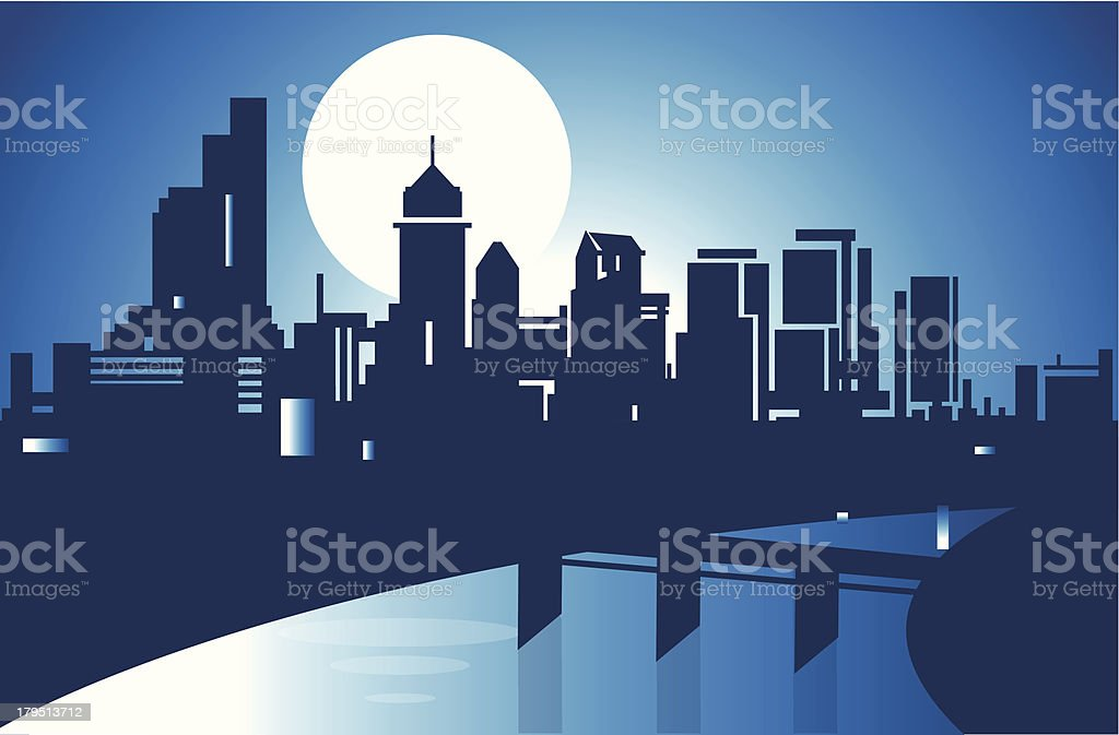 PhiladelPhia Skyline vector art illustration