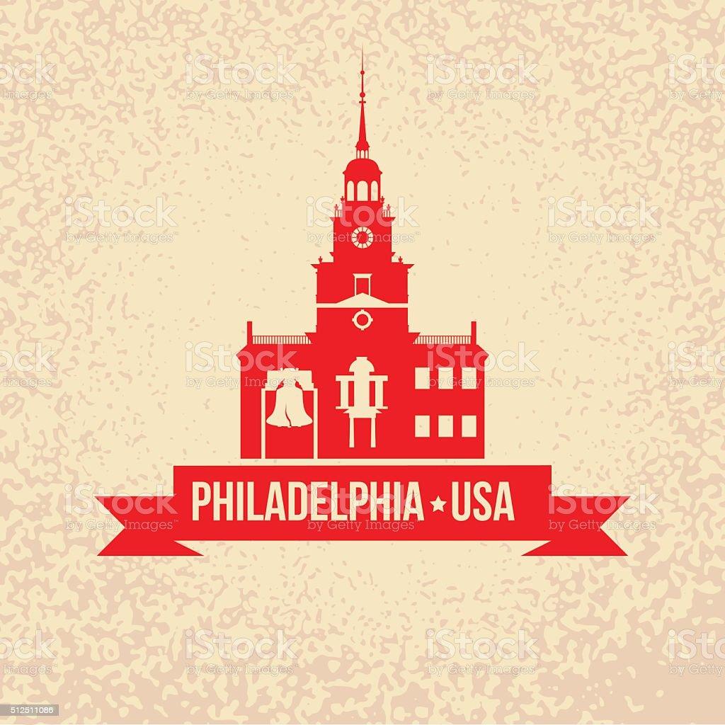 Philadelphia. Symbol city vector art illustration