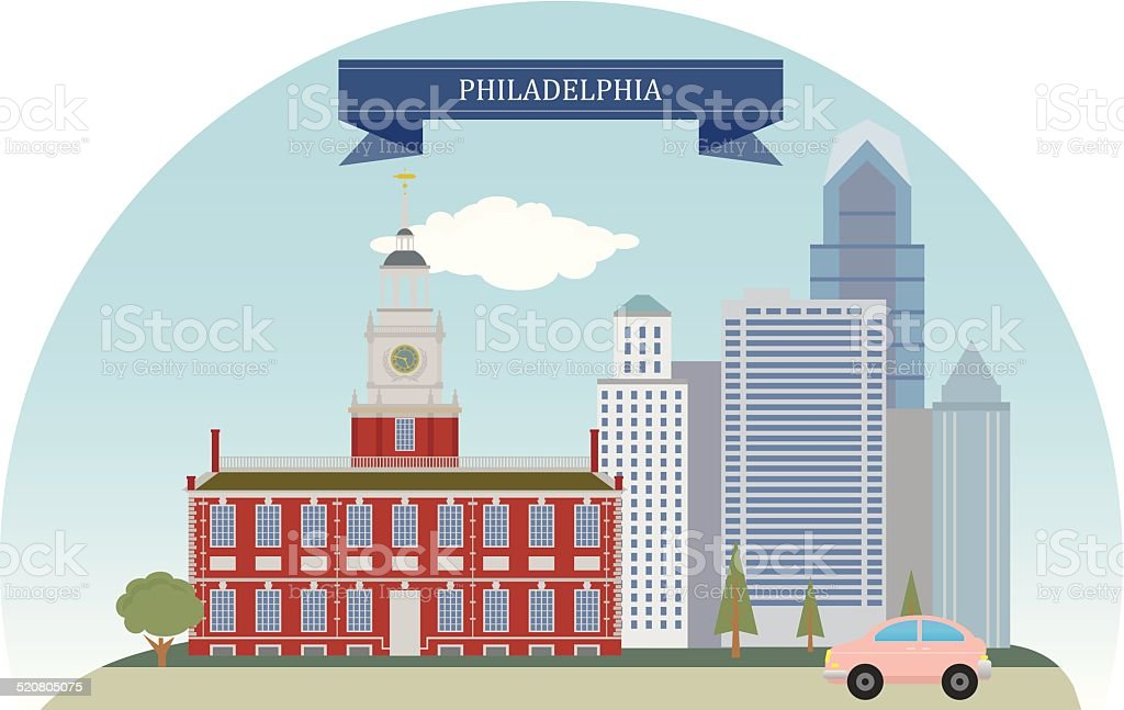 Philadelphia, USA vector art illustration