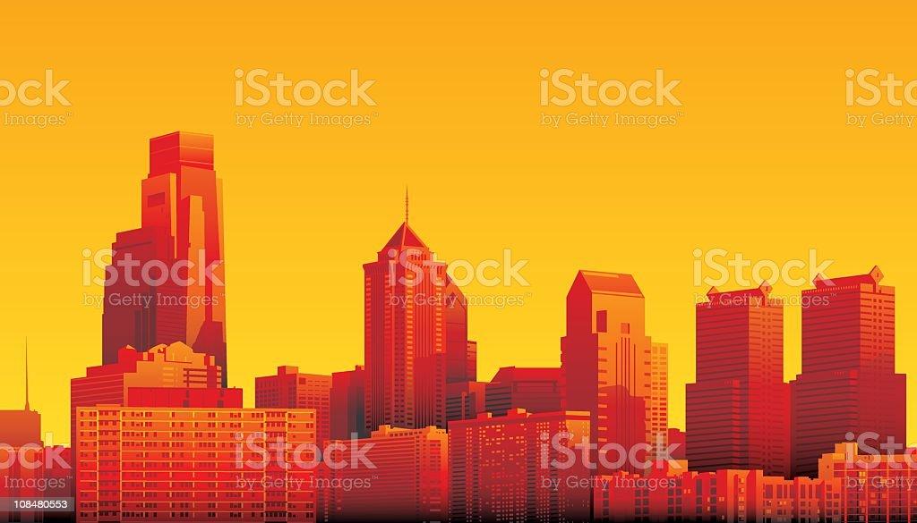 Philadelphia vector art illustration