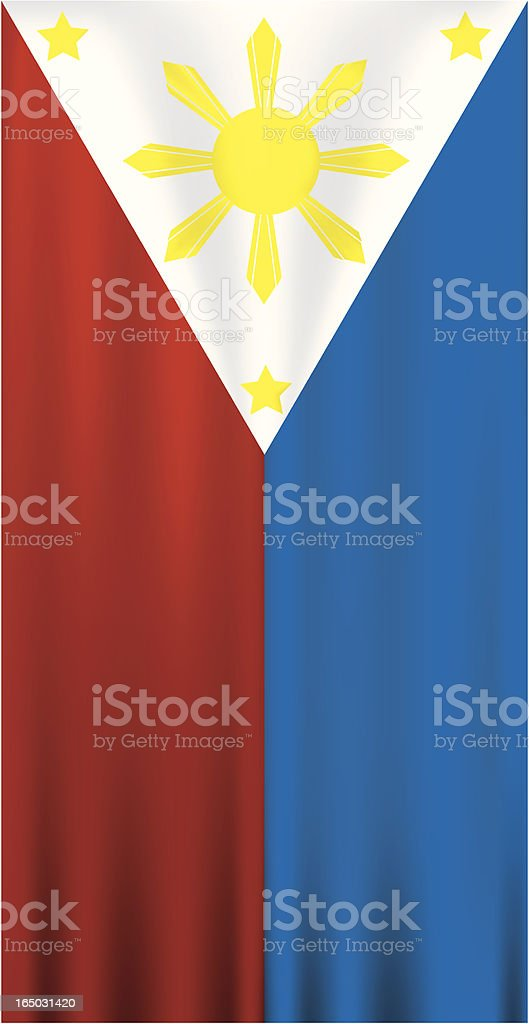 Philippine Flag (Three Stars and the Sun) royalty-free stock vector art