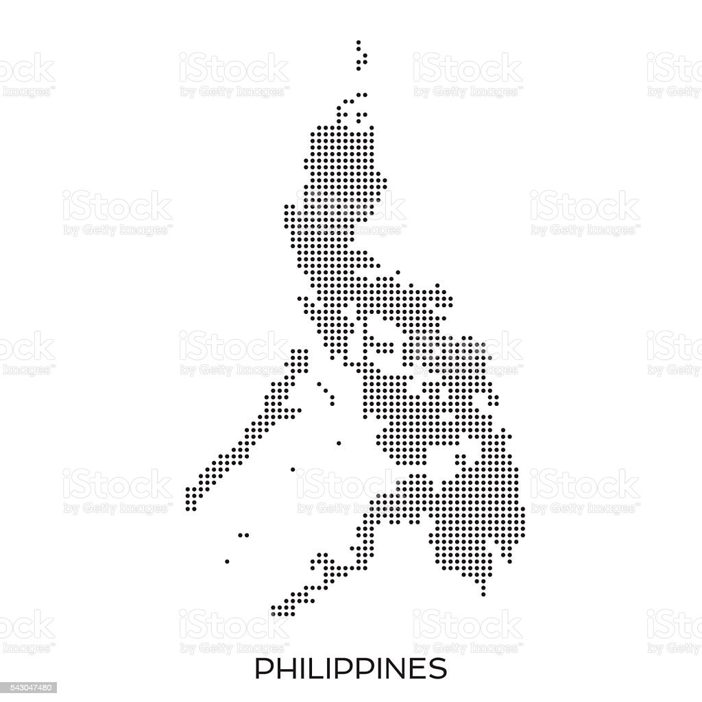 Philippines dot halftone pattern map vector art illustration