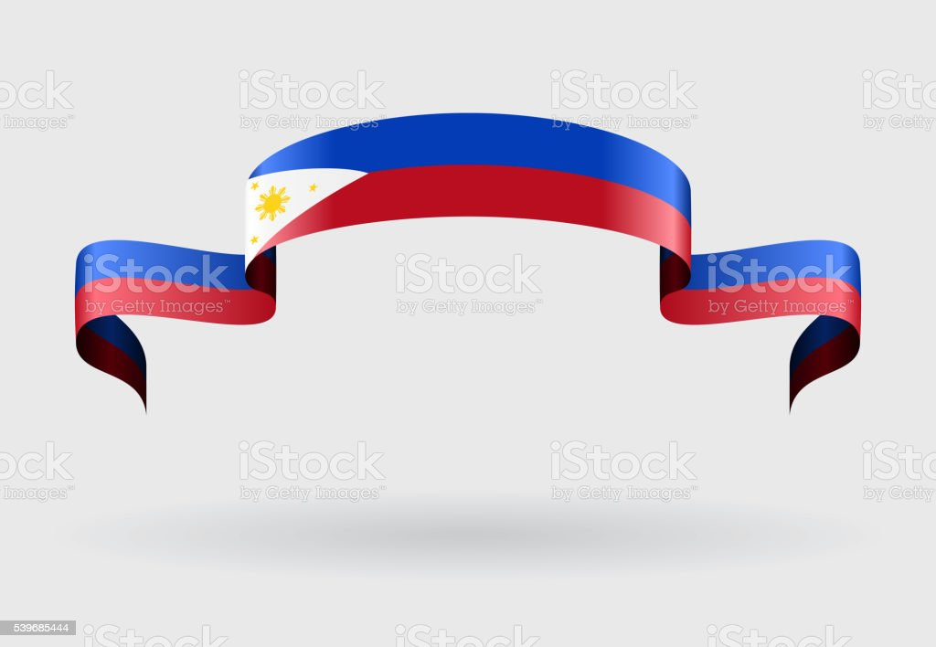 Philippines flag background. Vector illustration. vector art illustration