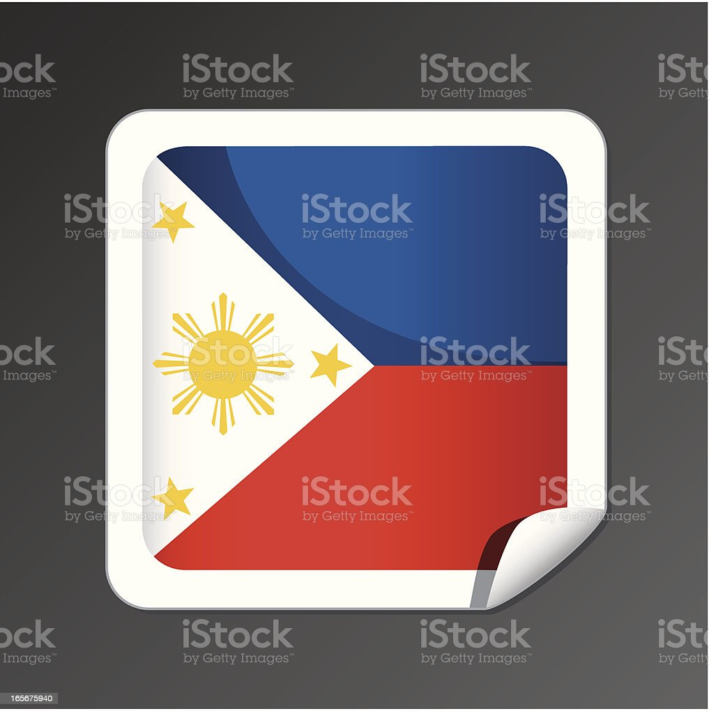 Philippines flag icon royalty-free stock vector art