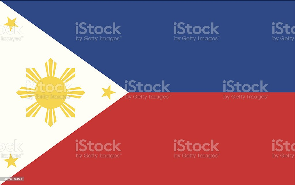 philippines flag Illustration vector art illustration